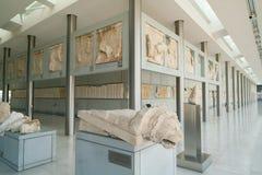 Αθήνα, Ελλάδα - 15 Νοεμβρίου 2017: Εσωτερική άποψη του νέου μουσείου ακρόπολη στην Αθήνα Σχεδιασμένος από τους ελβετικός-Γάλλους Στοκ Φωτογραφίες