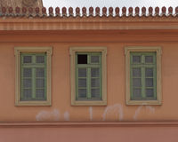 Αθήνα Ελλάδα, πρόσοψη σπιτιών στη Πλάκα Στοκ φωτογραφία με δικαίωμα ελεύθερης χρήσης