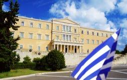 Αθήνα, το Κοινοβούλιο στο τετράγωνο συντάγματος στοκ φωτογραφία