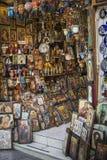 ΑΘΗΝΑΣ - ΕΛΛΑΔΑ - 21.2016 ΣΕΠΤΕΜΒΡΙΟΥ: Κατάστημα Ορθόδοξων Εκκλησιών σε Ath Στοκ εικόνες με δικαίωμα ελεύθερης χρήσης