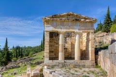 Αθηναϊκό Υπουργείο Οικονομικών, Δελφοί, Ελλάδα στοκ εικόνες με δικαίωμα ελεύθερης χρήσης
