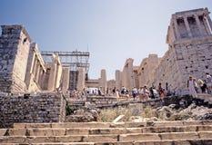 αθηναϊκό propylaea ακρόπολη στοκ εικόνες