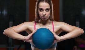 Αθλήτρια στη γυμναστική Στοκ Εικόνα