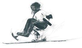 Αθλητές με φυσικές ειδικές ανάγκες - ALPINE SKIING Στοκ εικόνα με δικαίωμα ελεύθερης χρήσης