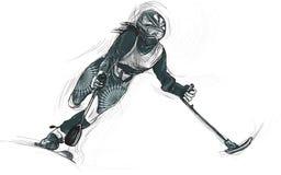 Αθλητές με φυσικές ειδικές ανάγκες - ALPINE SKIING Στοκ φωτογραφία με δικαίωμα ελεύθερης χρήσης