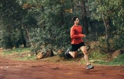 Αθλητής που τρέχει σε ένα πάρκο Στοκ φωτογραφίες με δικαίωμα ελεύθερης χρήσης
