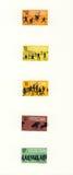αθλητικά γραμματόσημα silhuettes του Μεξικού Στοκ Εικόνες