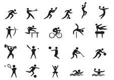 Αθλητικά εικονίδια Στοκ Εικόνα
