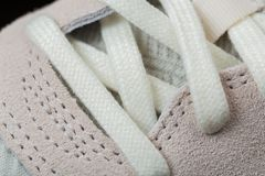 Αθλητικά παπούτσια με τις άσπρες δαντέλλες στοκ εικόνα με δικαίωμα ελεύθερης χρήσης
