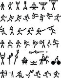 αθλητικά σύμβολα Στοκ φωτογραφία με δικαίωμα ελεύθερης χρήσης