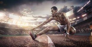 Αθλητικά υπόβαθρα Στάδιο ποδοσφαίρου και τρέχοντας διαδρομή τρισδιάστατος δώστε στοκ εικόνα με δικαίωμα ελεύθερης χρήσης