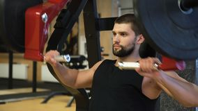 Αθλητικής ικανότητας άσκηση ατόμων γυμναστικής workout ισχυρή απόθεμα βίντεο