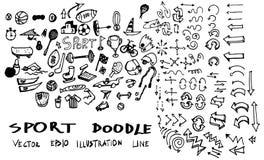Αθλητική διανυσματική απεικόνιση eps10 γραμμών Doodle Στοκ Φωτογραφία