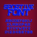 Αθλητική διανυσματική πηγή αλφάβητου Αναδρομικός χαρακτήρας ύφους για τις ετικέτες, τους τίτλους, τις αφίσες ή sportswear ελεύθερη απεικόνιση δικαιώματος