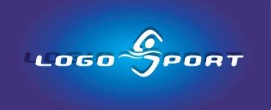 αθλητική κολύμβηση λογότ Στοκ Εικόνες
