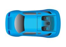 αθλητική κορυφαία όψη αυτοκινήτων διανυσματική απεικόνιση