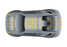 αθλητική κορυφαία όψη αυτοκινήτων απεικόνιση αποθεμάτων