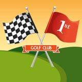 Αθλητική λέσχη γκολφ με τις σημαίες διανυσματική απεικόνιση