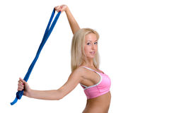 αθλητική λευκή γυναίκα &alph Στοκ Εικόνες
