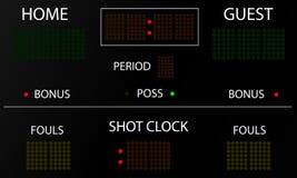 Αθλητικός ηλεκτρονικός πίνακας βαθμολογίας διανυσματική απεικόνιση