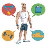 Αθλητικός μυϊκός ισχυρός ατόμων διανυσματική απεικόνιση