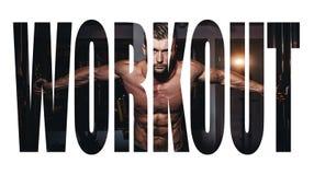 Αθλητικός νεαρός άνδρας που κάνει τις ασκήσεις με το barbell στη γυμναστική Ο όμορφος μυϊκός τύπος bodybuilder επιλύει μονοχρωματ στοκ φωτογραφίες με δικαίωμα ελεύθερης χρήσης