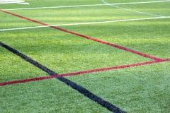 Αθλητικός τομέας με τις γραμμές ορίου στοκ φωτογραφία με δικαίωμα ελεύθερης χρήσης