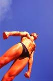 αθλητικός τύπος σωμάτων Στοκ φωτογραφία με δικαίωμα ελεύθερης χρήσης