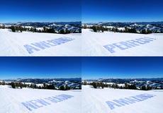 αθλητικός χειμώνας προώθ&eta Στοκ Φωτογραφίες
