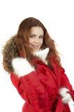 αθλητικός χειμώνας σακακιών κοριτσιών Στοκ Φωτογραφίες