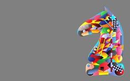 Αθλητικό άλογο με τις λεπτομέρειες του αθλητισμού Στοκ φωτογραφία με δικαίωμα ελεύθερης χρήσης