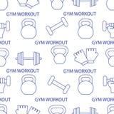 Αθλητικό άνευ ραφής σχέδιο Εξοπλισμός Weightlifting ελεύθερη απεικόνιση δικαιώματος