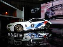 Αθλητικό αυτοκίνητο της BMW M8 GTE Στοκ Εικόνα