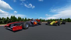 Αθλητικό αυτοκίνητο F1 στοκ εικόνες με δικαίωμα ελεύθερης χρήσης