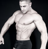 αθλητικό ελκυστικό αρσενικό οικοδόμων σωμάτων προκλητικό στοκ εικόνες με δικαίωμα ελεύθερης χρήσης