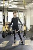 Αθλητικό κορίτσι στη γυμναστική Στοκ Εικόνες