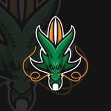 Αθλητικό λογότυπο δράκων ε διανυσματική απεικόνιση