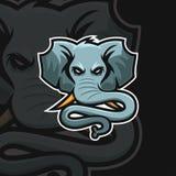 Αθλητικό λογότυπο ελεφάντων ε ελεύθερη απεικόνιση δικαιώματος