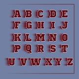 Αθλητικό τρισδιάστατο διανυσματικό κόκκινο αλφάβητου Στοκ φωτογραφίες με δικαίωμα ελεύθερης χρήσης