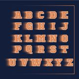 Αθλητικό τρισδιάστατο διανυσματικό πορτοκάλι αλφάβητου Στοκ εικόνες με δικαίωμα ελεύθερης χρήσης