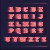 Αθλητικό τρισδιάστατο διανυσματικό ροζ αλφάβητου Στοκ Φωτογραφία