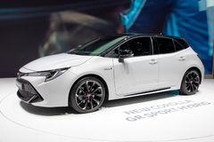 Αθλητικό υβριδικό αυτοκίνητο της Toyota Corolla GR στοκ φωτογραφία με δικαίωμα ελεύθερης χρήσης