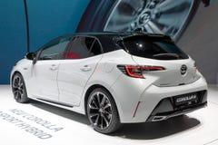 Αθλητικό υβριδικό αυτοκίνητο της Toyota Corolla GR στοκ εικόνες