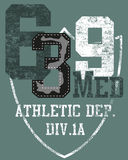 αθλητισμός αριθμού σχεδί&o Στοκ εικόνες με δικαίωμα ελεύθερης χρήσης