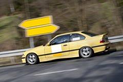 αθλητισμός αυτοκινήτων κίτρινος Στοκ εικόνα με δικαίωμα ελεύθερης χρήσης