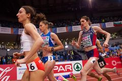 Αθλητισμός - γυναίκα 1500m, TERZIC Amela Στοκ φωτογραφίες με δικαίωμα ελεύθερης χρήσης