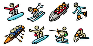 αθλητισμός εικονιδίων Στοκ Φωτογραφία