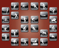 αθλητισμός εικονιδίων Στοκ φωτογραφίες με δικαίωμα ελεύθερης χρήσης