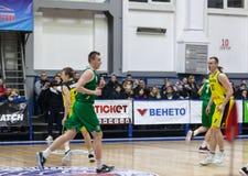 Αθλητισμός καλαθοσφαίρισης στην Ουκρανία, οι ενεργές στιγμές ενός παιχνιδιού Στοκ εικόνες με δικαίωμα ελεύθερης χρήσης