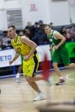 Αθλητισμός καλαθοσφαίρισης στην Ουκρανία, οι ενεργές στιγμές ενός παιχνιδιού Στοκ φωτογραφία με δικαίωμα ελεύθερης χρήσης